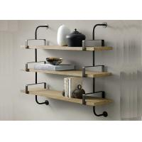 Buy cheap Fixed Wooden Wall Mounted Display Shelving Units Decorative Customized Size from wholesalers