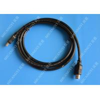 Buy cheap Gold Plated High Speed HDMI Cable , Black Heavy Duty Round HDMI 1.4 Cable from wholesalers