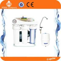 Residential / Household Reverse Osmosis Water Systems Plastic With Pressure Gauge