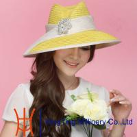 Buy cheap Yellow Womens Fashion Hats For Young Women Ladies Church Hats from wholesalers