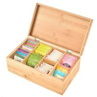 Buy cheap total bamboo material box tea custom tea box for high quality and factory price from wholesalers