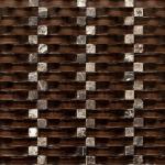 4mm thin 2 x 4 brick small glass mosaic tile bathroom