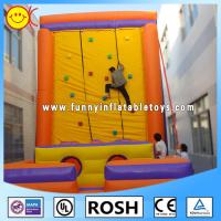 Buy cheap Adults Global Inflatables Oxford Cloth , Giant Inflatable Climbing Wall from wholesalers