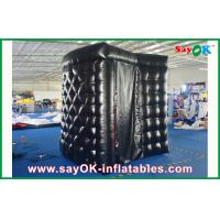 Buy cheap PVC Coating Black Inflatable Photo Booth Rental Waterproof Strong Picture Box from wholesalers
