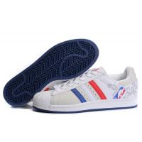 Quality cheap Adidas Superstar 1 NBA - White Blue Red Model: 245 for sale