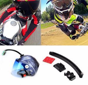Buy cheap GoPro Cycling Helmet Mount Accessories Set Selfie Arm Surface Base 3M VHB Sticker For GoPro 3 4S 5 Xiaomi Yi 4K SJCAM product