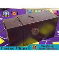 Buy cheap Official Cash Tip Poker Chips Toke Box / Casino Drop Box With Locks Gambling Table Accessories from wholesalers
