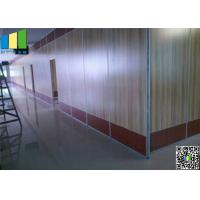 Buy cheap MDF Steel Track Sliding Partition Walls , Double Roller Hotel Light  Movable Partitions from wholesalers