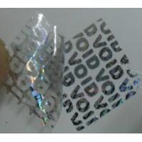 Buy cheap Void Self Adhesive Hologram Security Labels Environmentally Friendly Material from wholesalers