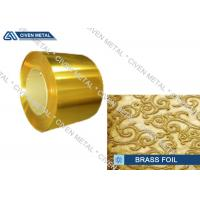 Buy cheap H63 - C27200 - CuZn37 Metal Alloy Foils Of Copper And Zinc With Size 0.01mm * 600mm from Wholesalers