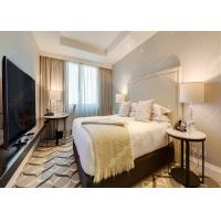 High Grade Leather Hotel Bedroom Furniture Sets King Size With Plywood Customized