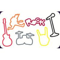 Buy cheap Music / Rock&Roll Shape High Elastic Glitter Silly Rubber Bandz For Boys / Men from wholesalers