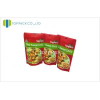 Buy cheap Red Matte Printed Stand Up Pouch Packet With Hanging Round Hole For Fruit Chips from wholesalers
