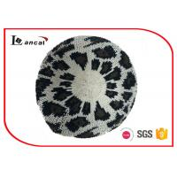 Buy cheap Leopard Jacquard Pattern Crochet Slouchy Beret 100% Acrylic For Ladies from wholesalers