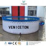 Buy cheap flexible PVC wire mesh tank pvc tarpaulin fish tank for fish farm from wholesalers