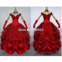 Buy cheap Cosplay Civil War Dress Wholesale Custom-made Elegant Aristocrat Red Victorian Dress Ball Gown Gothic Dress Costume from wholesalers