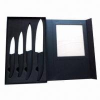Buy cheap 3/4/5/6-inch Ceramic Kitchen Knife Set in Black Window Box, with EVA Tray from wholesalers