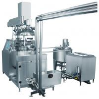 Buy cheap Three Phase Toothpaste Vacuum Pump Vacuum Emulsifying Machine With Hydraulic Lifting from wholesalers