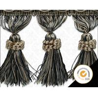 Buy cheap By the Yard-4 Taupe Mix Tassel Fringe Trim Fabric Fringe for Lampshade Lamp Costume Pillow Curtains Home Decor from wholesalers