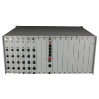 Buy cheap 4U rack Modular Fiber optical multiplexer 90PCM telephone POTS port over fiber converter with double power from wholesalers