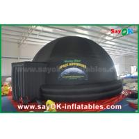 Buy cheap 5m DIA Black Inflatable planetarium Dome Projection Tent For School Teaching from wholesalers