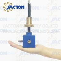Buy cheap screw lift mechanism gear box lift Rotating custom-made motor drive worm screw jack Rotated screw gear worm drive from wholesalers