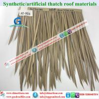 Buy cheap AT-003 HDPE Fireproof simple installation synthetic artificial thatch from wholesalers