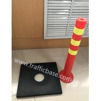 Buy cheap 10lb Rectangle Recycled Black Rubber Base for Delineator Post / Traffic Base / Rubber Base / Traffic Cone from wholesalers