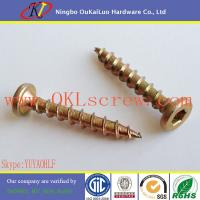 Buy cheap Yellow Zinc Pancake Head Hexagon Socket Chipboard Screws from wholesalers