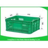 Buy cheap Mesh Plastic Food Crates Moving Storage Environmental Protection For Supermarkets from wholesalers