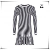 Buy cheap Long Sleeve Womens Dress Sweaters Round Neck With Black And White Striped from wholesalers