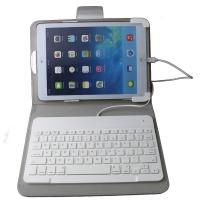 Buy cheap White ABS keys iOS system Wired iPad Keyboard Leather Case For ipad Air 2 product