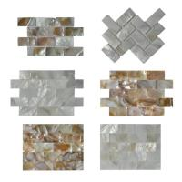 Buy cheap Contemporary Unique 3D Shell Mosaic Tile Patio Table Mosaic 2mm Thickness from wholesalers
