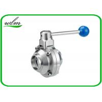 Buy cheap High Sanitary Ball Valves , Stainless Steel Butterfly Valve For Beverage Industry from wholesalers