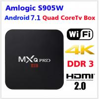 Buy cheap 2018 Amlogic S905W WIFI network TV Box MXQ Pro 1gb RAM 8gb ROM Android 7.1 Kodi 4k HD Factory Wholesale from wholesalers
