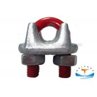 Buy cheap #45 Carbon Steel Rigging Lifting Equipment , US Type Drop Forged Wire Rope Clips from wholesalers