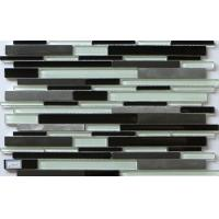 Buy cheap Small strip Glass mix metal mosaic linear puzzle pattern classic decoration from wholesalers