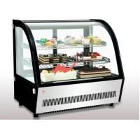Buy cheap Small Curved Glass Refrigerated Bakery Display Case Countertop Mirrors / Steel Base from wholesalers