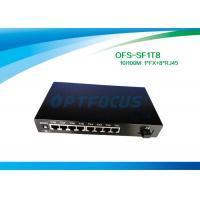 Full Duplex Optical Fiber Switch 8 Port 1536 Bytes Frame UTP Cable