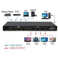 Buy cheap 4 in 4 out Matrix HDMI2.0 switch and splitter support 4K from wholesalers