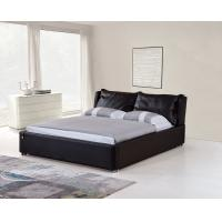 Buy cheap Modern Black Color Bedroom Furniture Genuine Leather Wooden  King Size Bed from wholesalers
