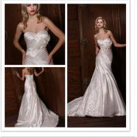 Buy cheap Empire Waist Pleated Simple Elegant Wedding Dresses of Wipes Bosom from wholesalers