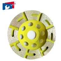 Buy cheap Sintered T Shape Concrete Grinding Cup Wheel Double Row For Terrazzo Marble from wholesalers