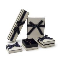 Buy cheap Rectangle Fancy Jewelry Box With Ribbon Bow Customized Size And Logo from wholesalers