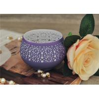 Buy cheap Colored Ceramic Pumpkin Candle Holder Anti Impact SGS Certification from wholesalers