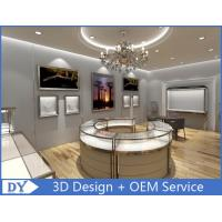 Buy cheap Watch Store Jewelry Display Cases with Mirror Stainless Steel Frame + Wooden Cabinet + Glass + Lights product