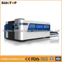 Buy cheap 2000W Fiber Laser Cutting machine with exchanger working table , laser protection cabinet from wholesalers