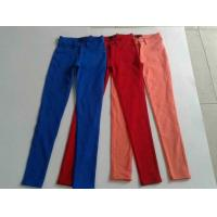 Buy cheap 17000pcs overstock women brand surplus skinny pants, slim fitting trousers lots inventory from wholesalers