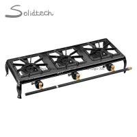 Buy cheap Portable Outdoor 3 Burners Double Cast Iron Propane Camping Gas Stove from wholesalers