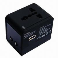 Buy cheap Multi-socket World Travel Plug Adapter with 100 to 250V AC, 6A Input Voltage from wholesalers